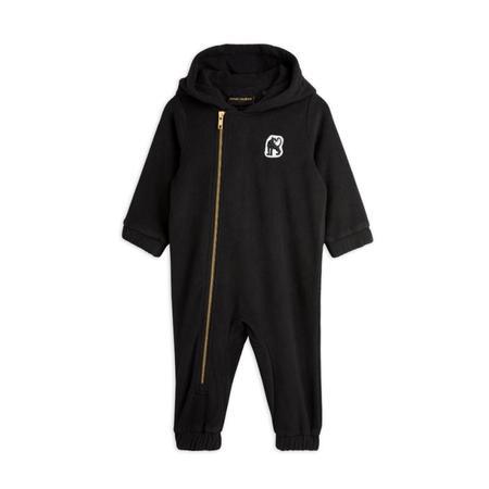 kids mini rodini microfleece baby onesie - black