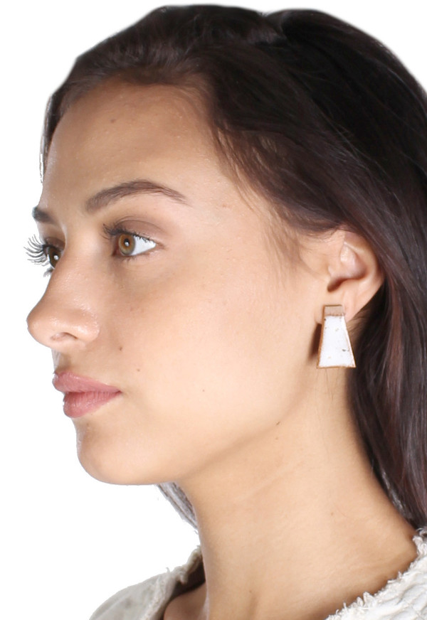 Maple & Mauve Natural Stone Deco Earring