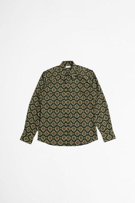 Dries Van Noten Curnes bis printed shirt - bottle green