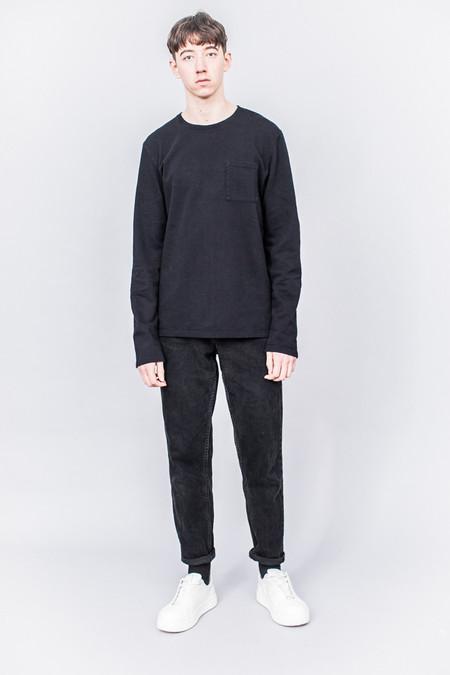 Très Bien Army Sweatshirt Black Overdye