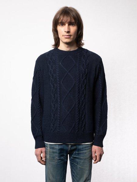 Nudie Jeans Didrik Braided Sweater - Indigo