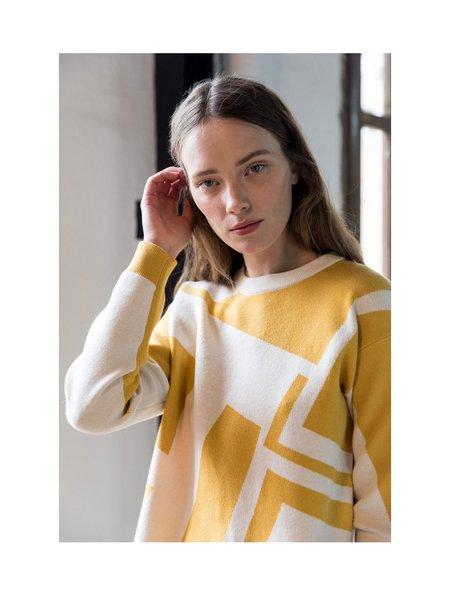 sita murt Geometric Jacquard Sweater