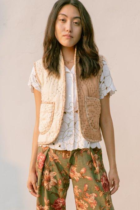 Jess Meany Two-Tone Linen Ava Vest