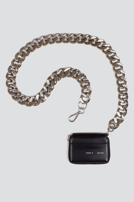 KARA Leather Bike Wallet - Black