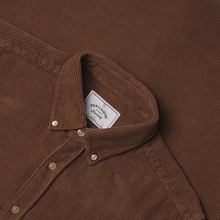 Portuguese Flannel Lobo Corduroy Shirt - Brown