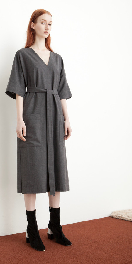 SCHAI Kandan Dress in Granite