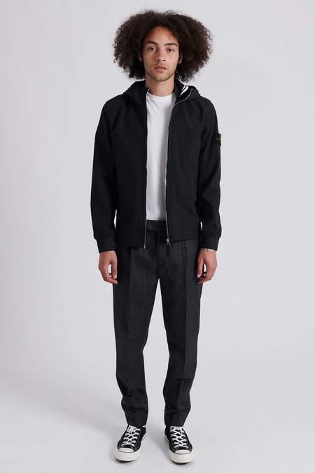 Stone Island Soft Shell-R e.dye Technology Hooded Jacket - Black