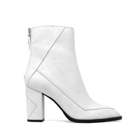 Sylven New York ALMASI vegan apple leather boot - white