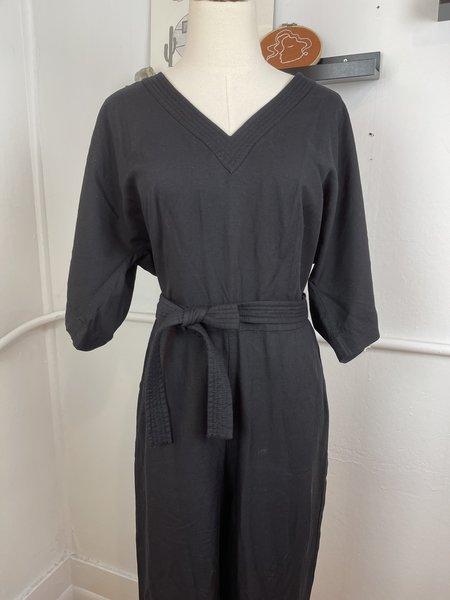 [pre-loved] Madewell Belted Jumpsuit - Black