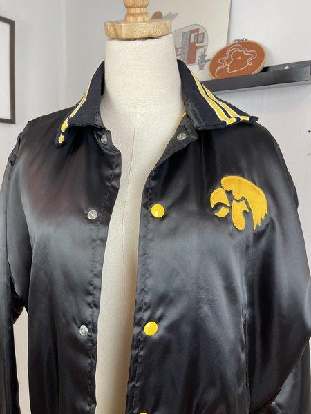 Vintage Iowa Satin Bomber - black