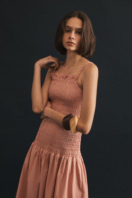 Wellington Factory Lou Shirred Dress - Rose