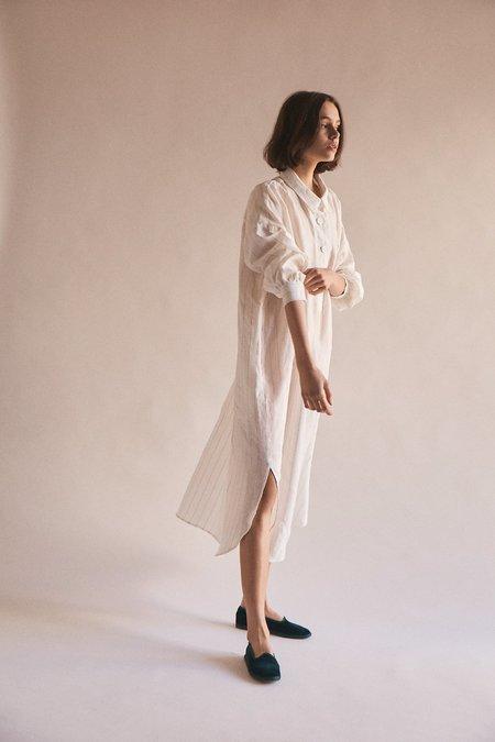Wellington Factory Nora Shirtdress - White Stripe