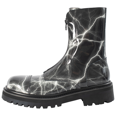 Vetements Leather boots with zipper