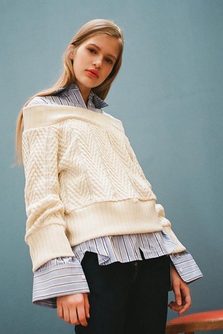 O.O Off Shoulder Knit- Cream