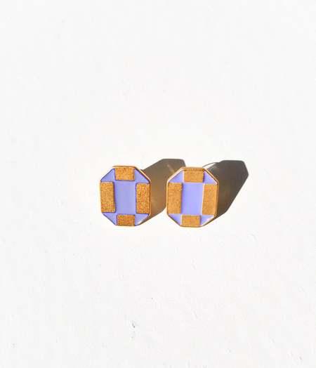 MATTER MATTERS Octagon Studs - Lilac