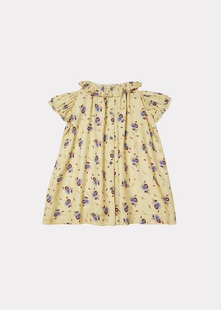 kids Caramel Natta Baby Dress - Yellow Thistle Print