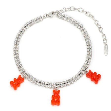 Joomi Lim Crystal Choker w/ Gummy Bear Charms - Silver