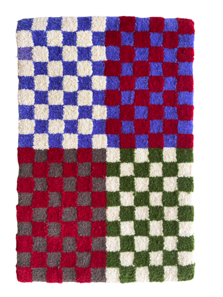 checker rug