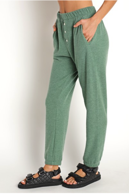 Donni. Sweater Henley Sweatpants - Kelly