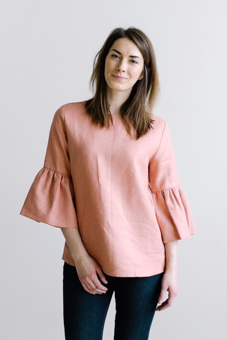 Megan Huntz Valentina Bell Sleeve Top