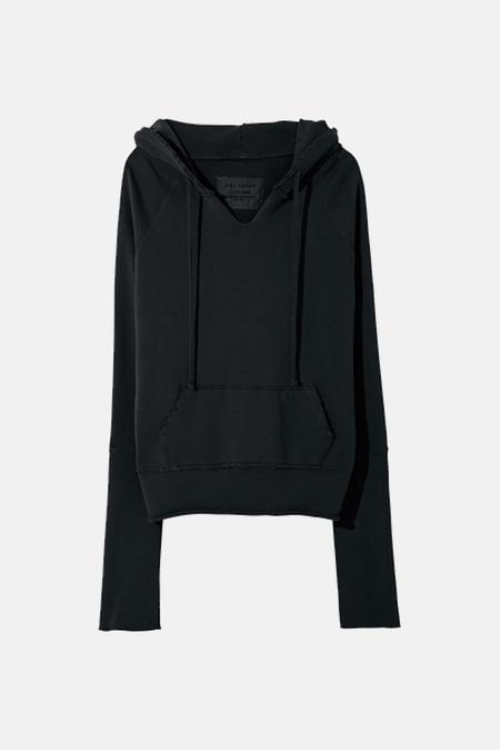 Women's Nili Lotan Janie Hoodie Sweater in Washed Black, Size XS