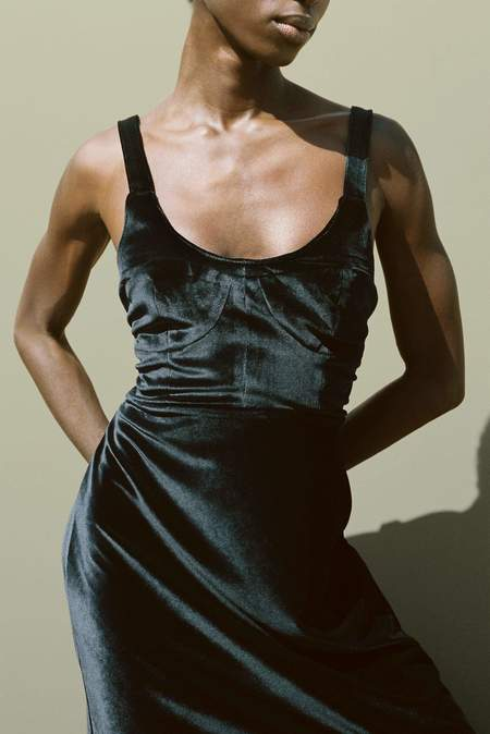 ciao lucia Esme VELVET Dress - Black