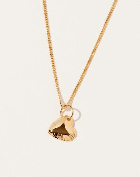 Vibe Harsløf Love Letter Heart Charm Necklace - 18K gold plated