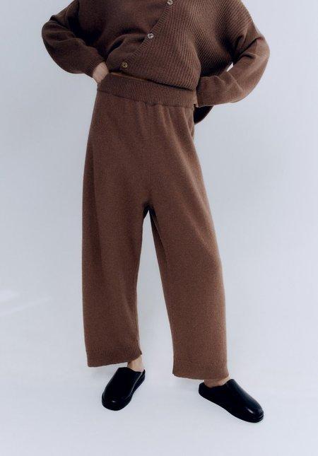 Mónica Cordera Baby Alpaca Pants - Cognac