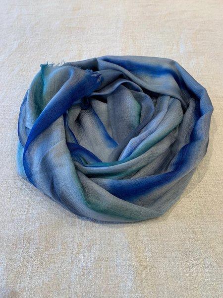 Viviana Uchitel 100% Cashmere Scarf - Blue Acquerelle