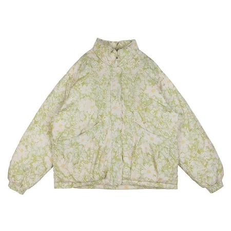 Kids Tambere Child Olivia Down Jacket - Ivory Cream Floral Print