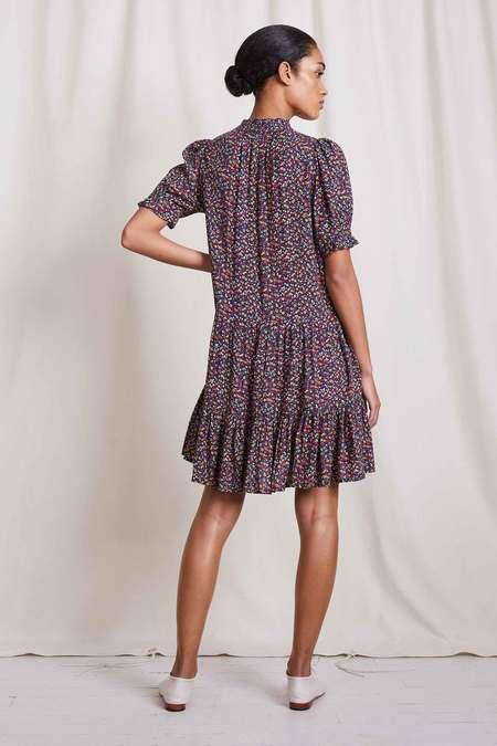 Apiece Apart Las Alturas Mini Dress - Crimson Dotty Floral