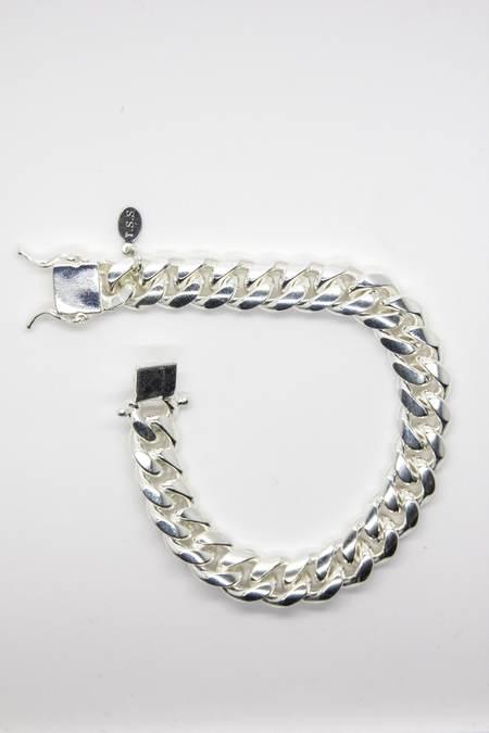 The Silver Stone CLASSIC CUBAN BRACELET - Silver