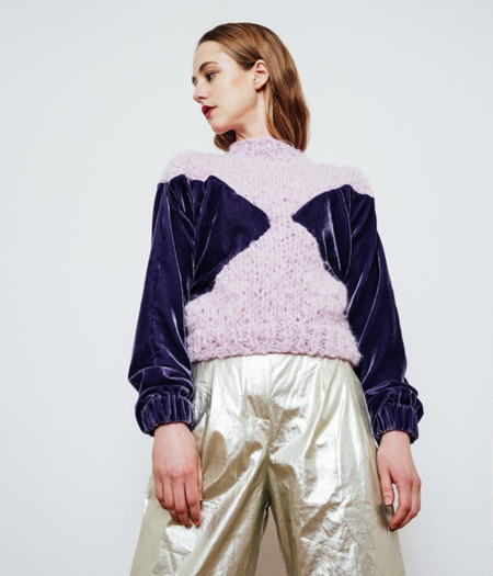 Gudrun&Gudrun Olympia Velvet Sweater - blue