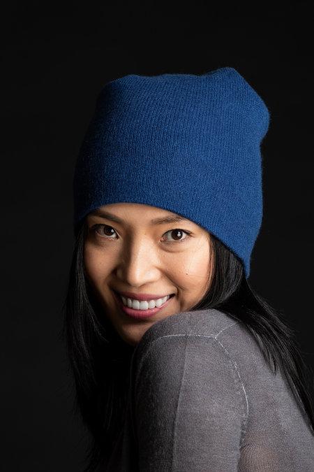 Paychi Guh 100% Cashmere Slouchy Beanie - blue