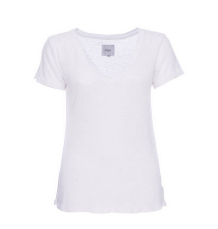 RAILS | CARA V-NECK T-SHIRT IN WHITE