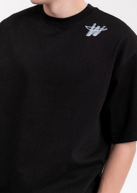 we11done Cotton WD Logo T-Shirt - Black