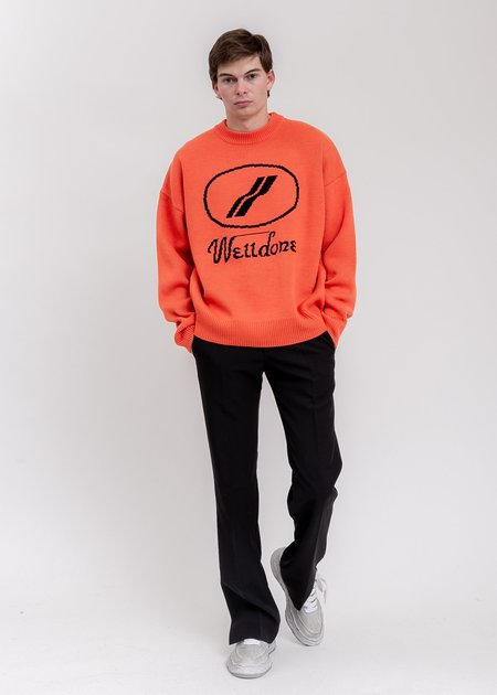 we11done Logo JCQ Sweater - Orange