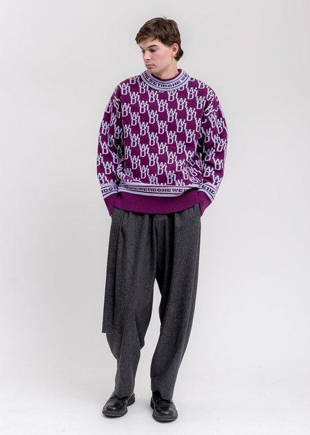 we11done WD1 Allover Logo Jumper sweater - Purple