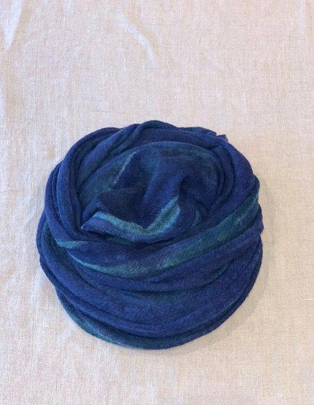cashmere shawl 100% Italian Cashmere Stole Shawl - Mixed Blue