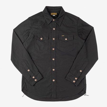 Iron Heart IHSH-296-BLK Military C.P.O. Shirt - Back