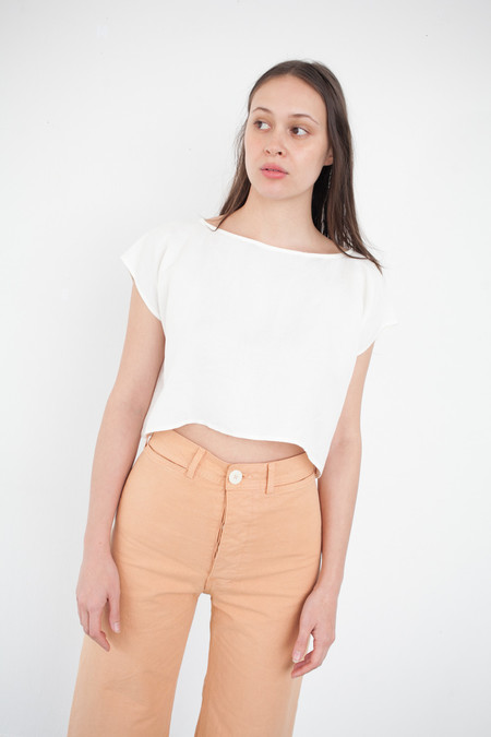 Jesse Kamm Rectangle Top in Salt White