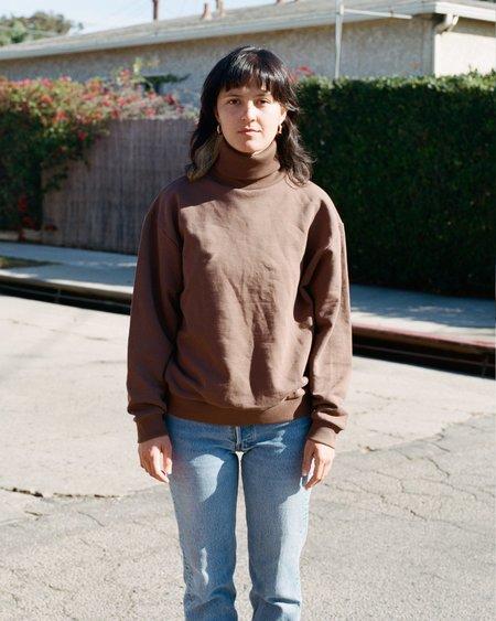 Baserange Loose Turtleneck Sweatshirt - Loam Brown