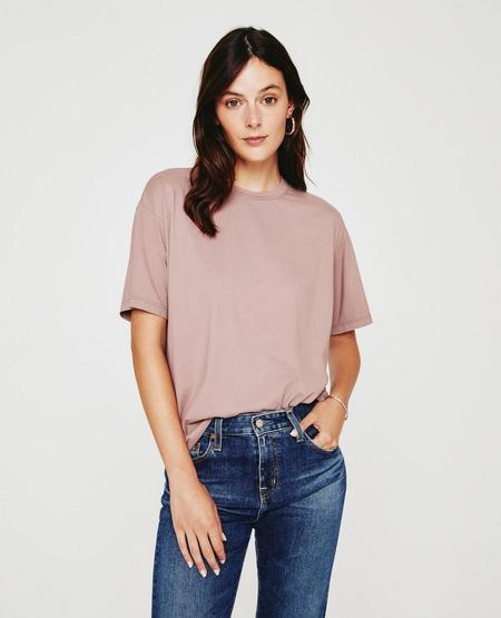 AG Jeans Karter Ex-Boyfriend T-Shirt - Vintage Lavender