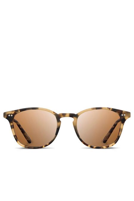 Unisex Shwood Kennedy Polarized Sunglasses - Matte Havana