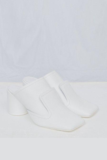 Maison Margiela Pebbled Leather Mule - White