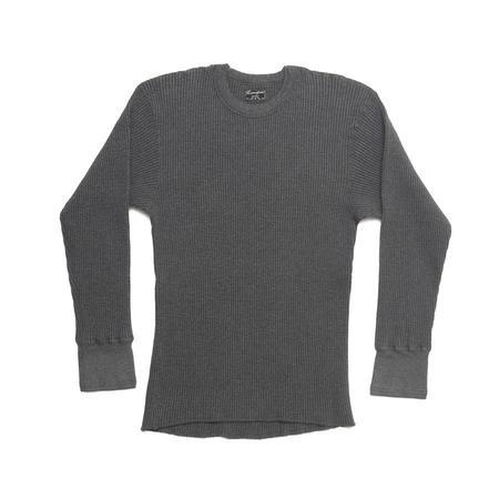 Homespun Knitwear Crew Thermal - Charcoal Melange