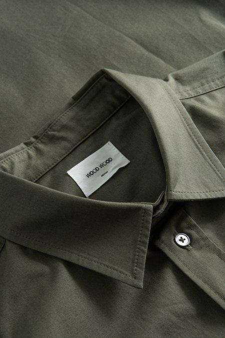 Wood Wood Avenir Twill Shirt - Olive