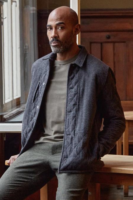 aboutcompanions Owe Jacket eco padded coal flannel