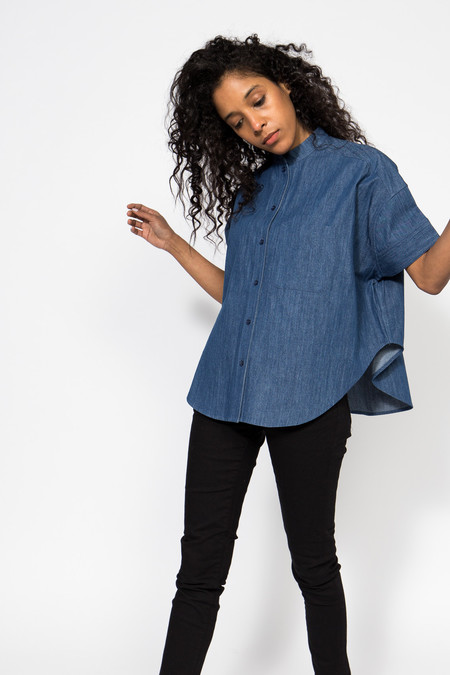 7115 by Szeki Denim Pockets Shirt