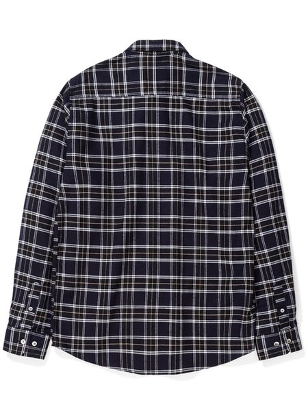 Norse Projects Anton Brushed Flannel Shirt - Dark Navy